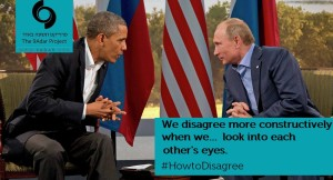 Putin and Barak. We disagree when...